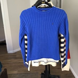 Vintage Polo by Ralph Lauren raw hem knit sweater